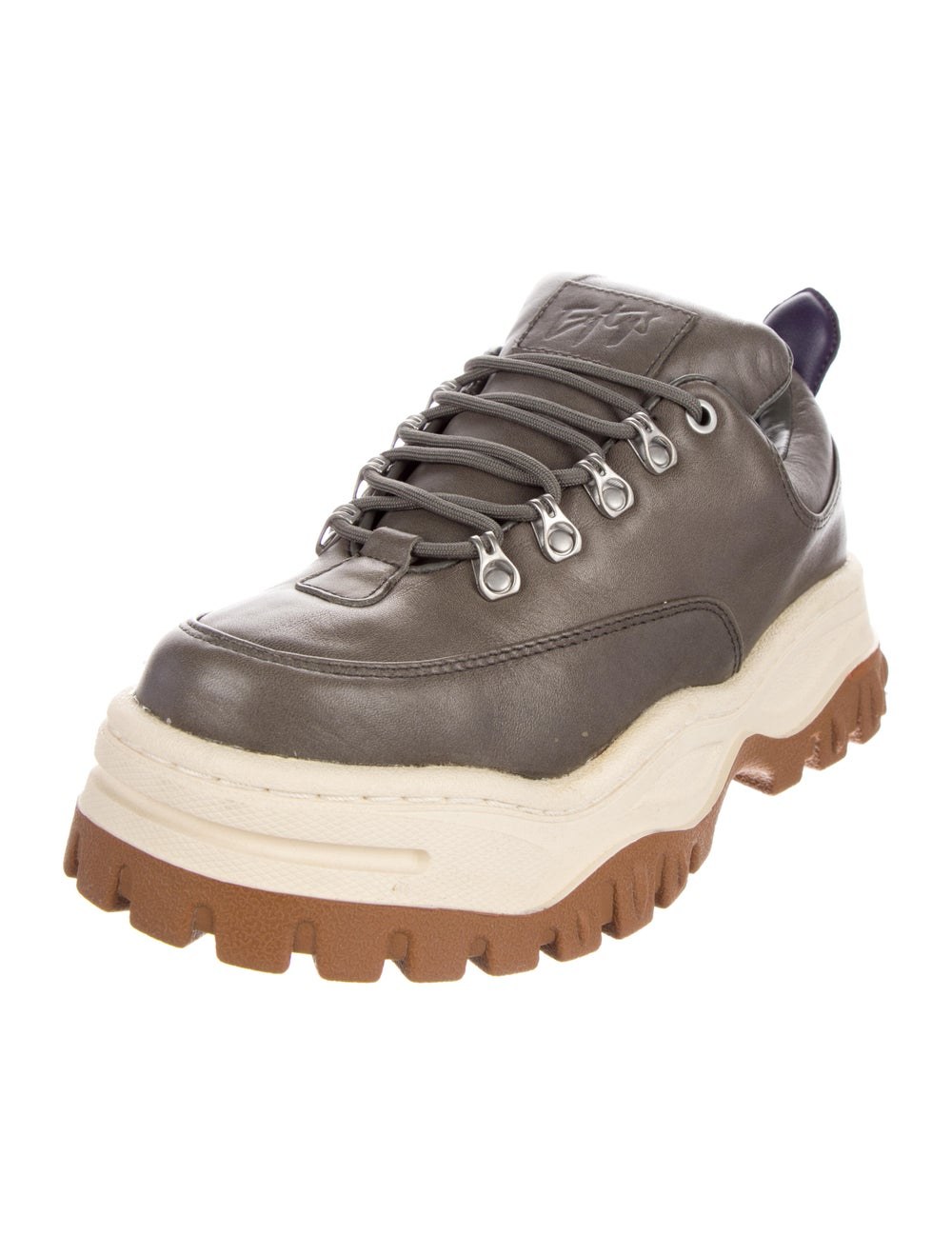 Eytys Leather Chunky Sneakers Grey - image 2