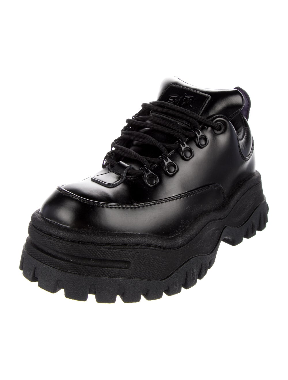 Eytys Leather Chunky Sneakers Black - image 2