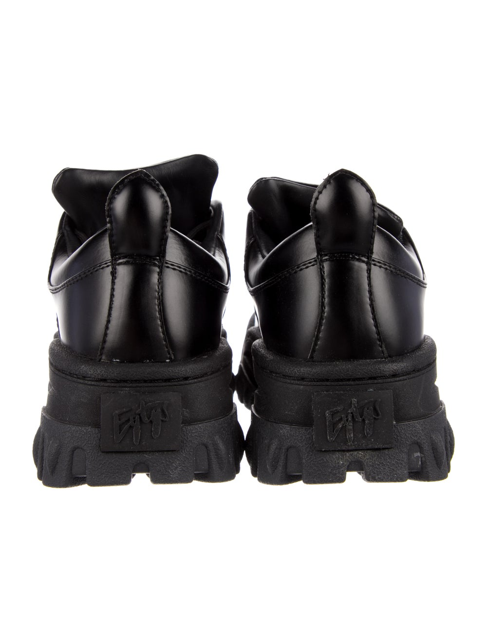 Eytys Leather Chunky Sneakers Black - image 4