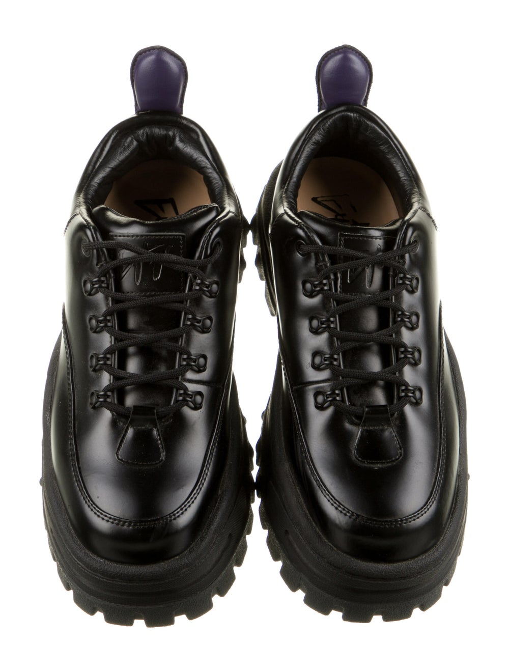 Eytys Leather Chunky Sneakers Black - image 3