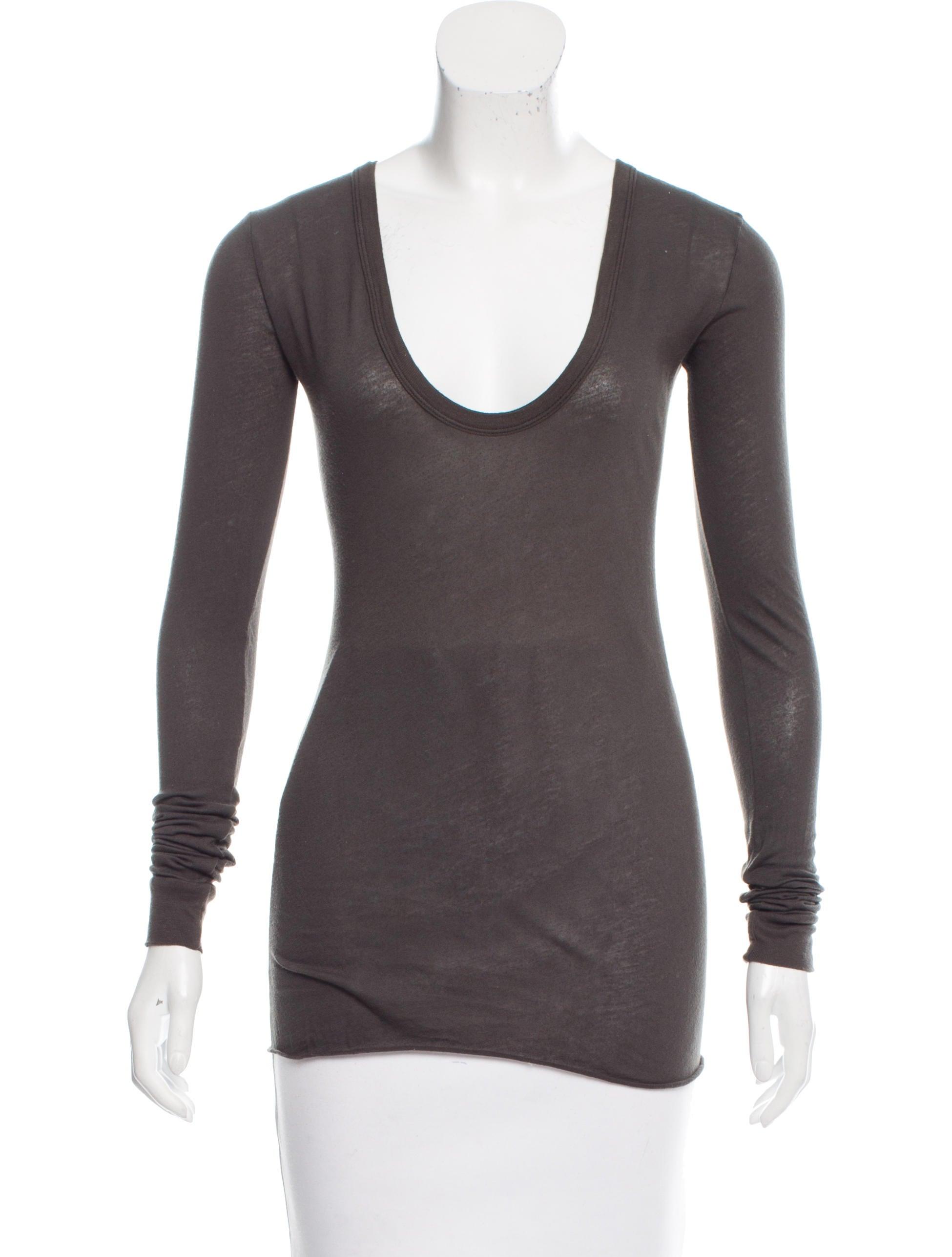 Enza costa long sleeve scoop neck t shirt clothing for Long sleeve scoop neck shirt