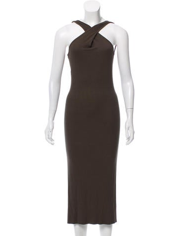 Enza Costa Rib Knit Midi Dress None