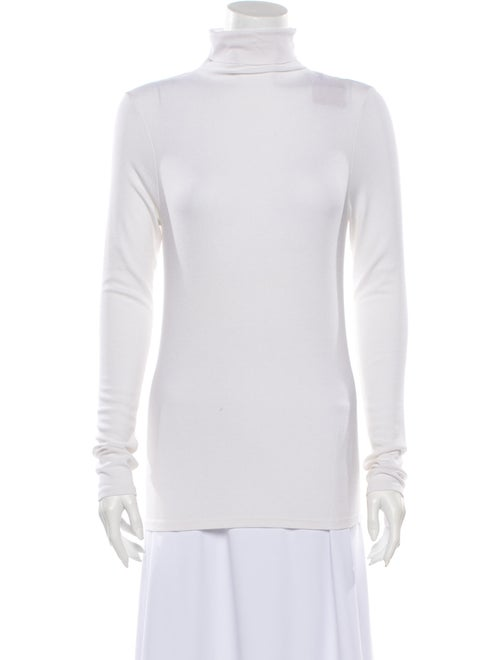 Enza Costa Turtleneck Long Sleeve Top White