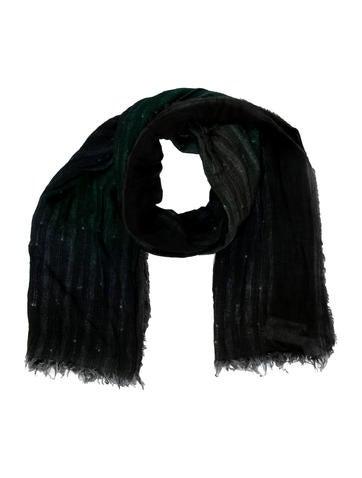 Faliero Sarti Woven Wool Blend Scarf w/ Tags