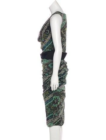 Belted Midi Dress w/ Tags