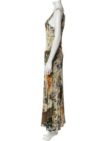 Fuzzi Printed Long Dress