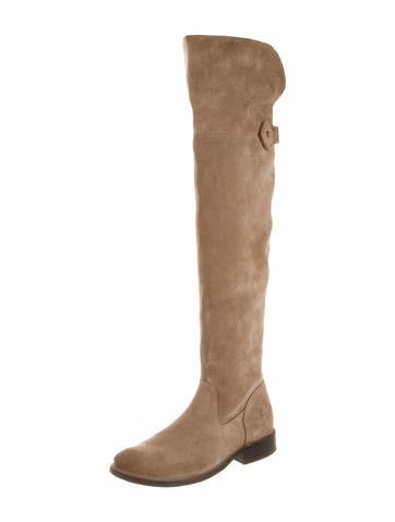 Nubuck Over-The-Knee Boots