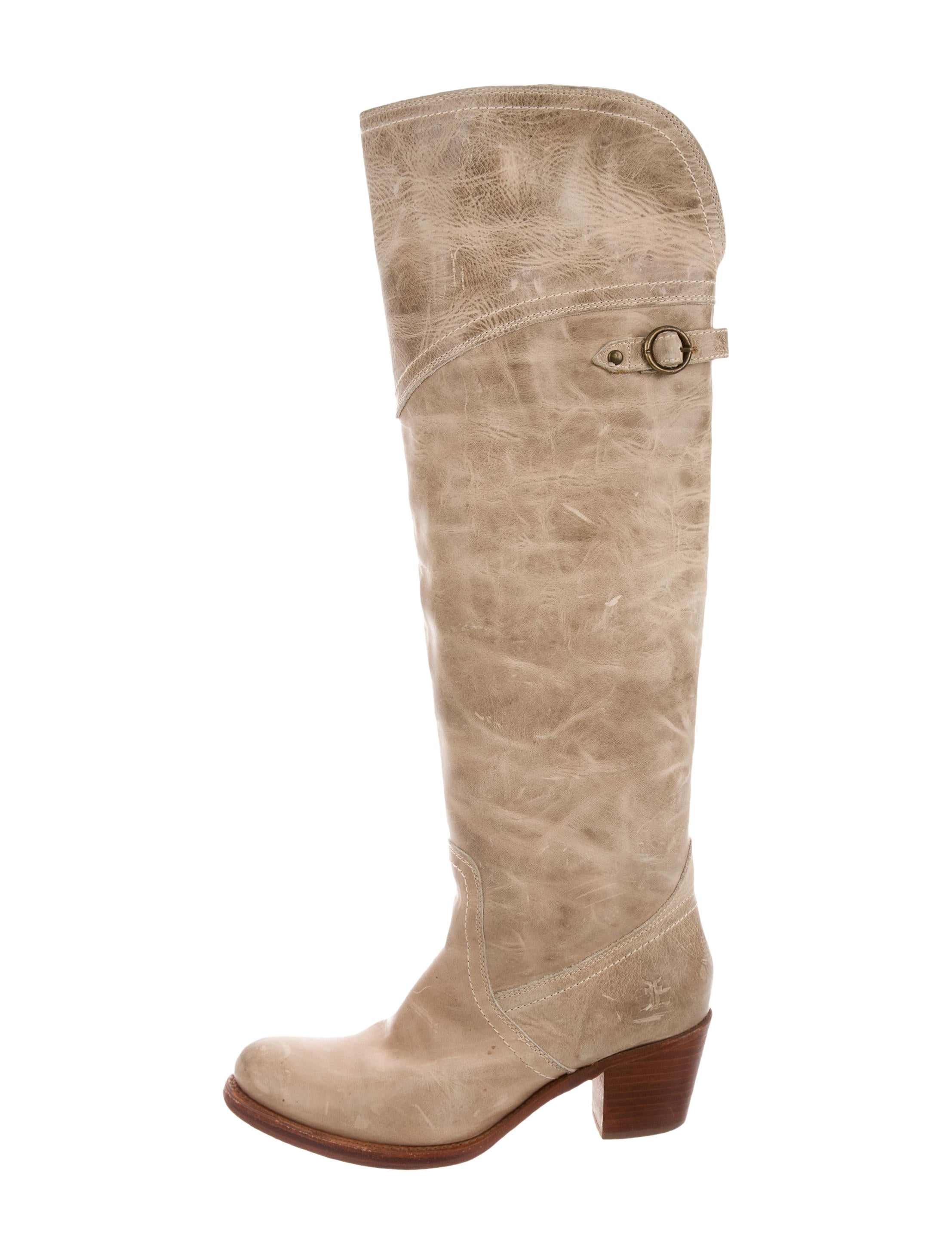 frye leather knee high boots shoes wf820734 the realreal