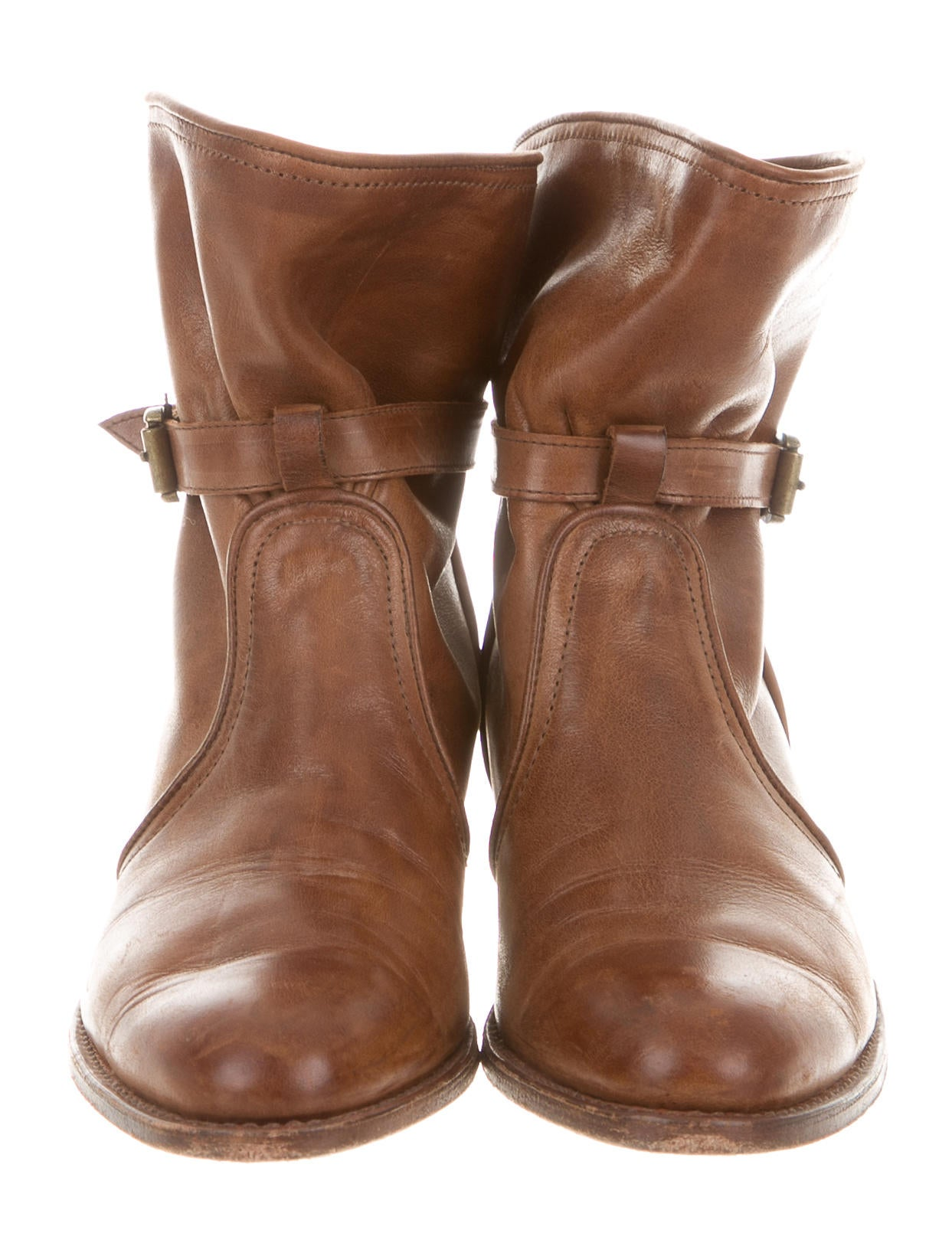 frye leather toe ankle boots shoes wf820822