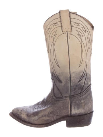 Distressed Western Boots