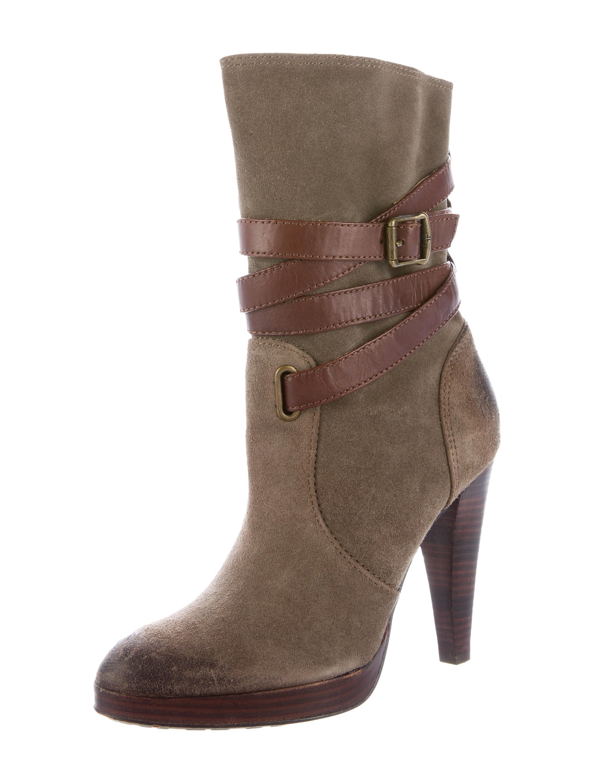 frye suede ankle boots shoes wf820857 the realreal