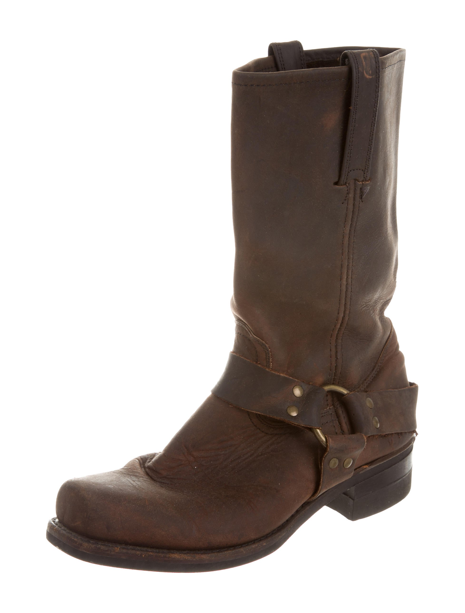 frye suede square toe boots shoes wf820865 the realreal