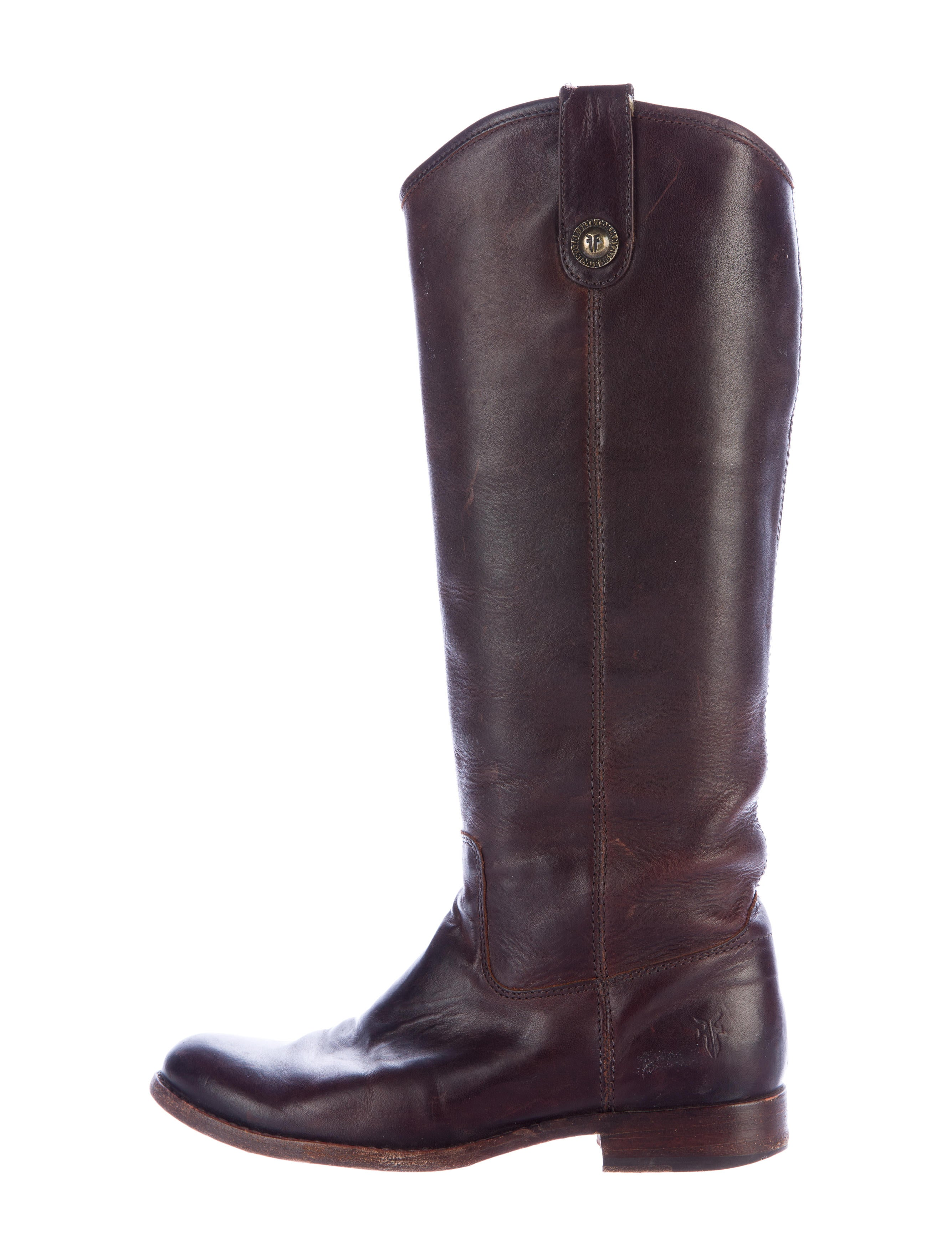 frye leather knee high boots shoes wf821019 the realreal