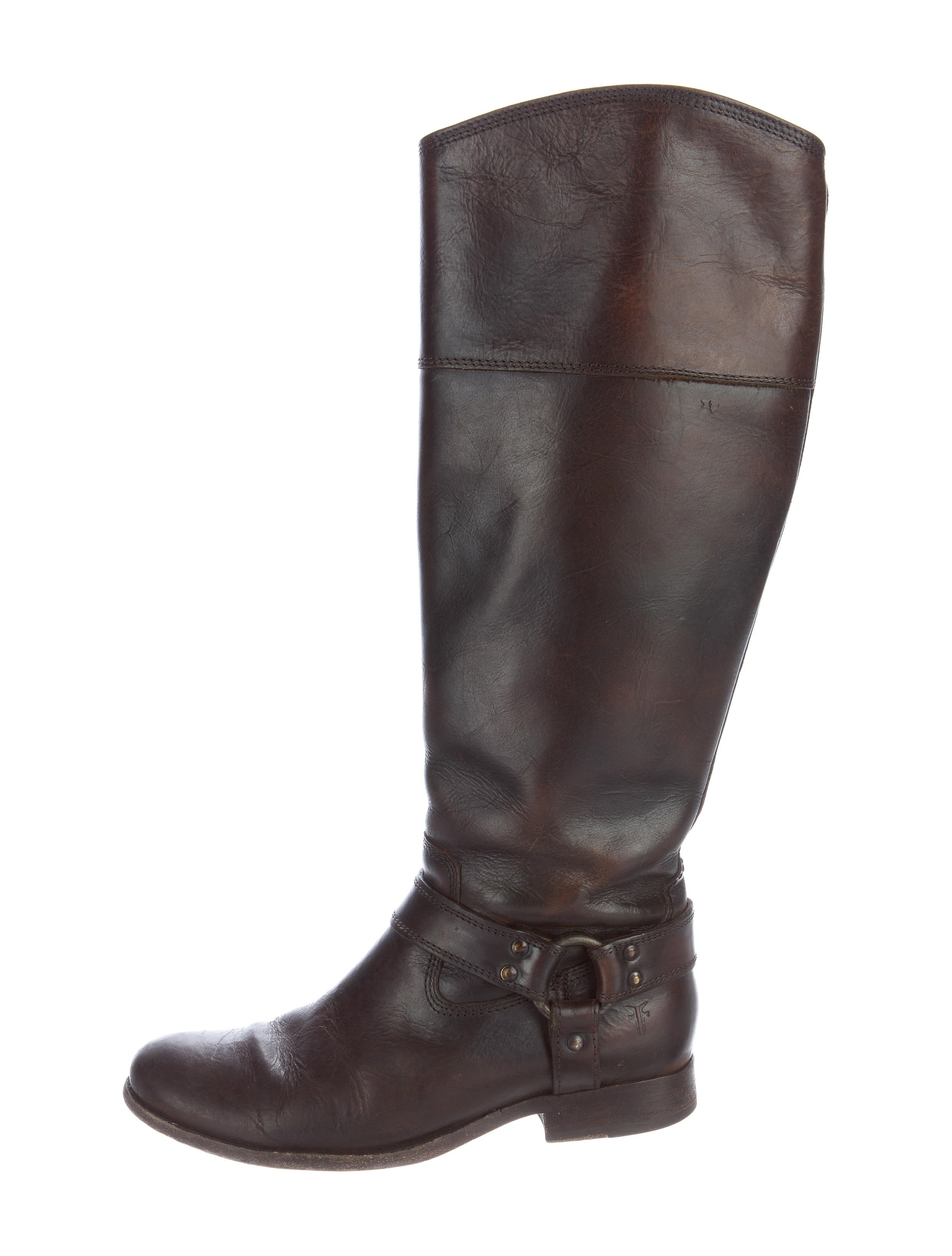 frye leather knee high boots shoes wf821031 the realreal
