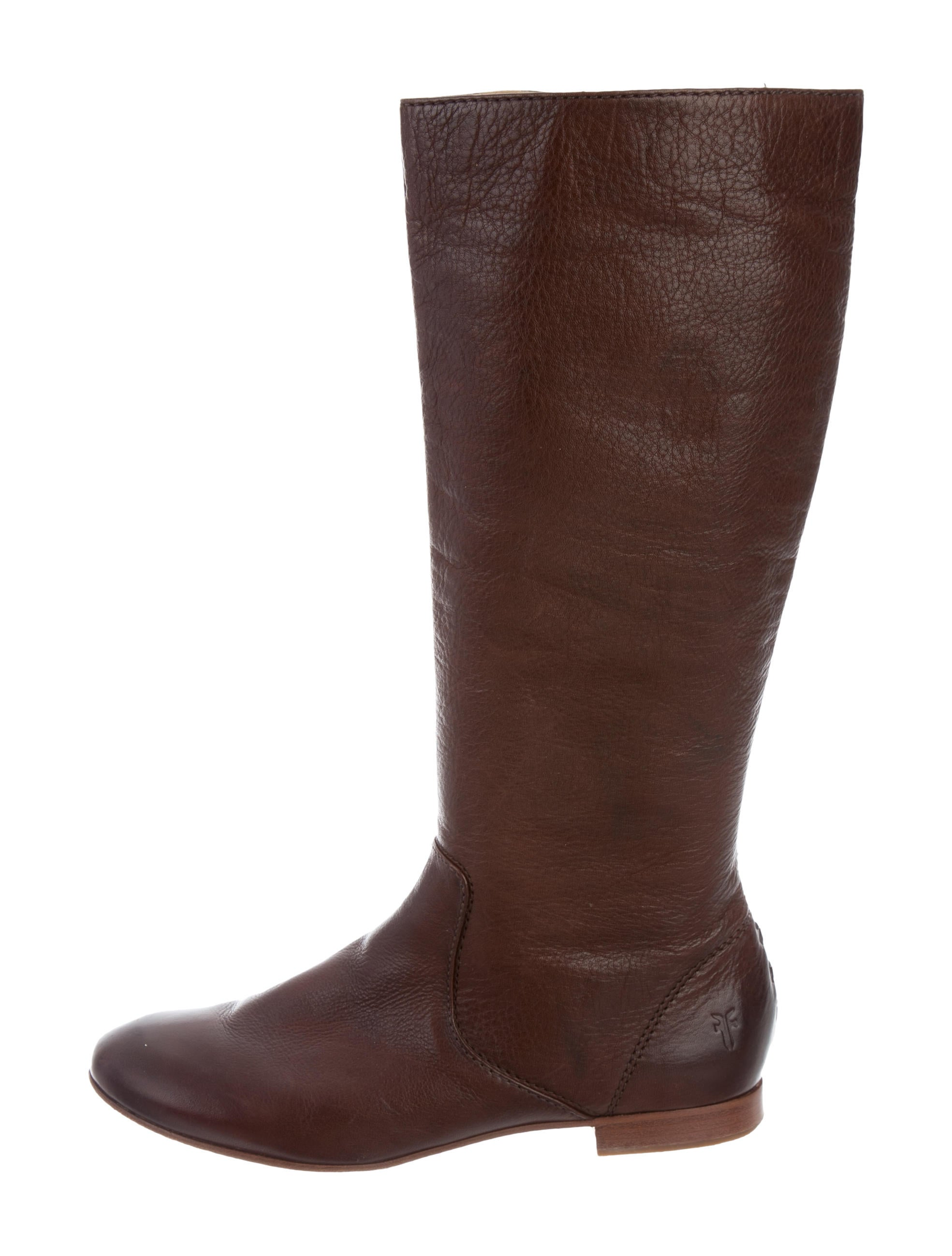frye leather knee high boots shoes wf821033 the realreal