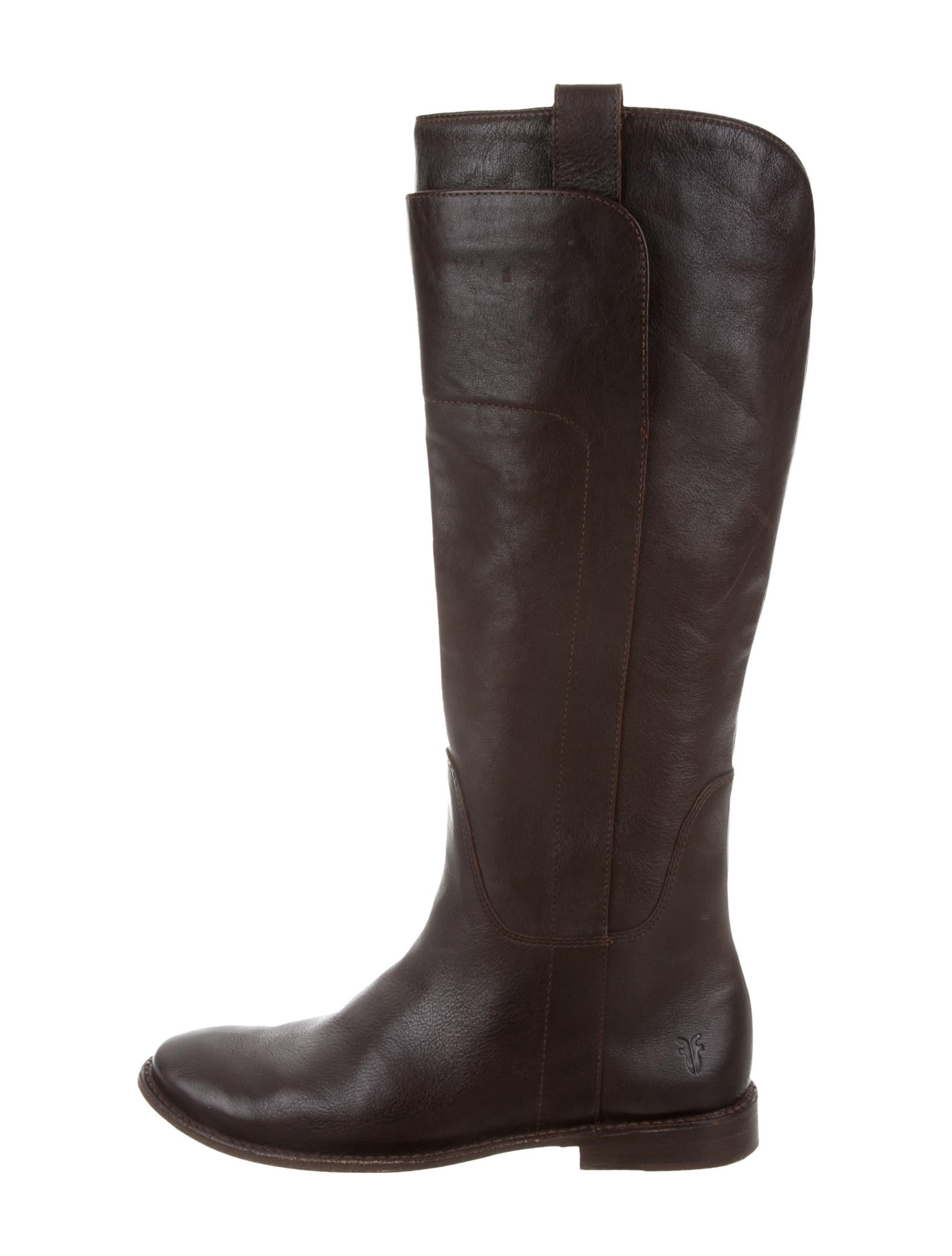 frye leather knee high boots shoes wf821049 the realreal