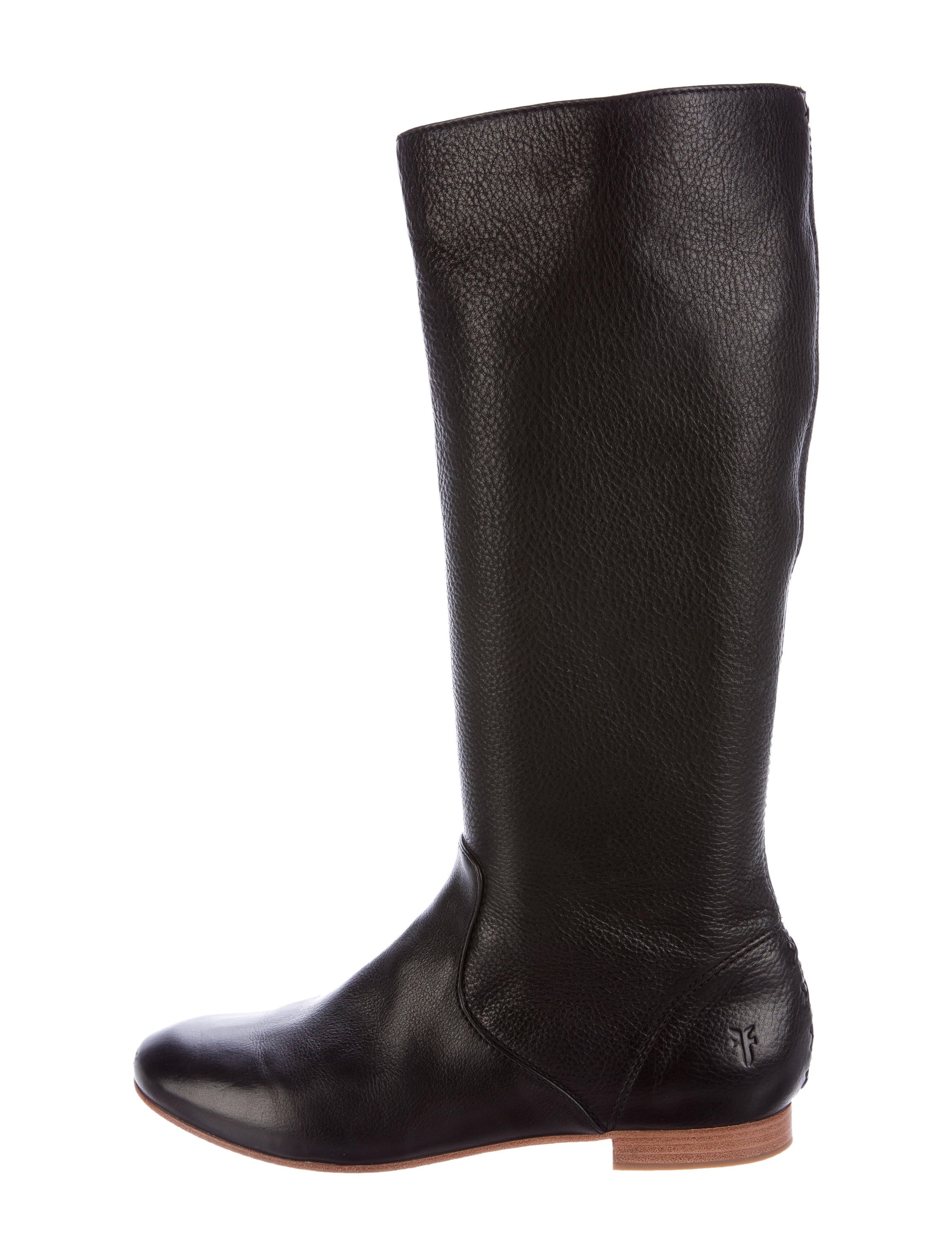 frye leather knee high boots shoes wf821055 the realreal