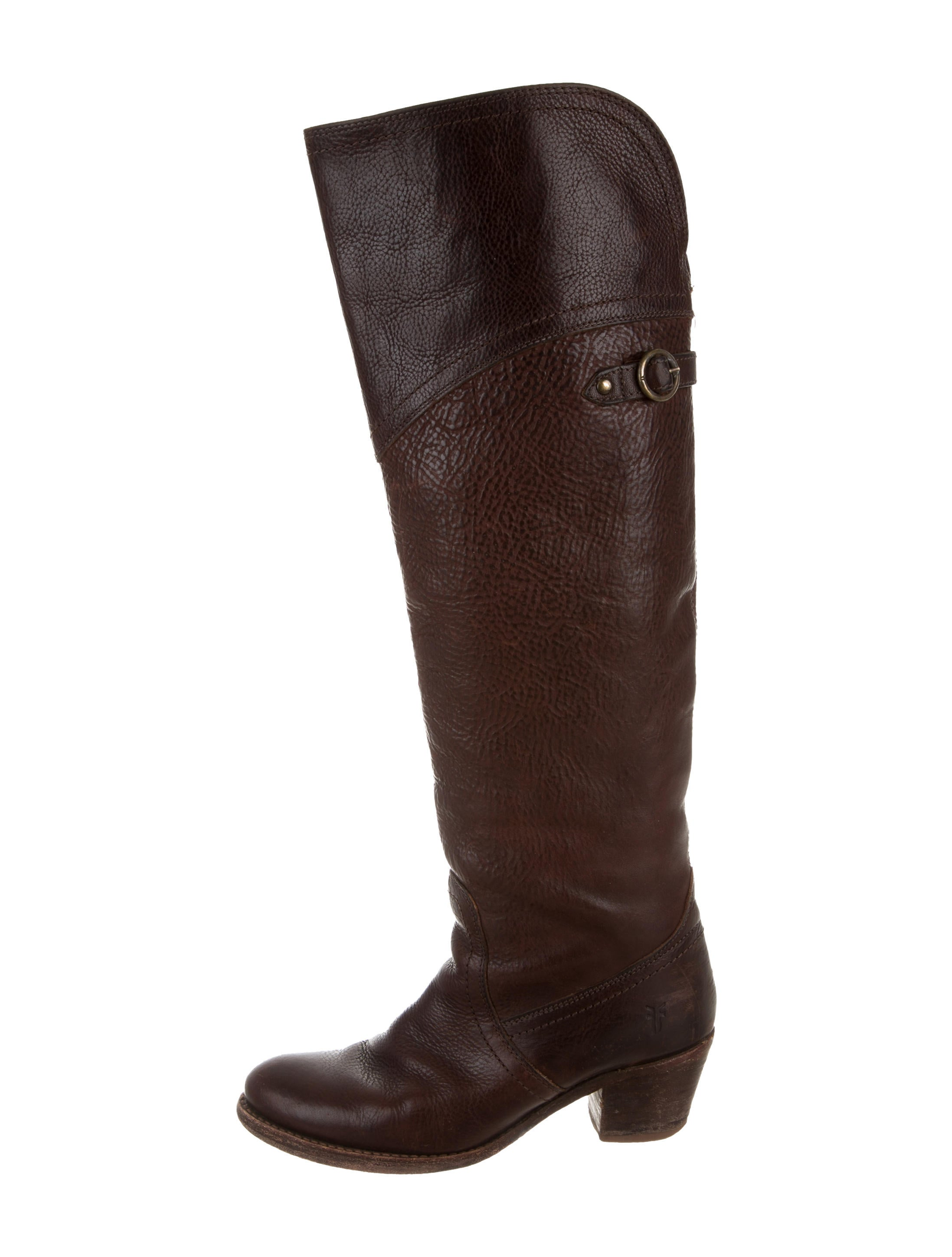 frye leather knee high boots shoes wf821063 the realreal
