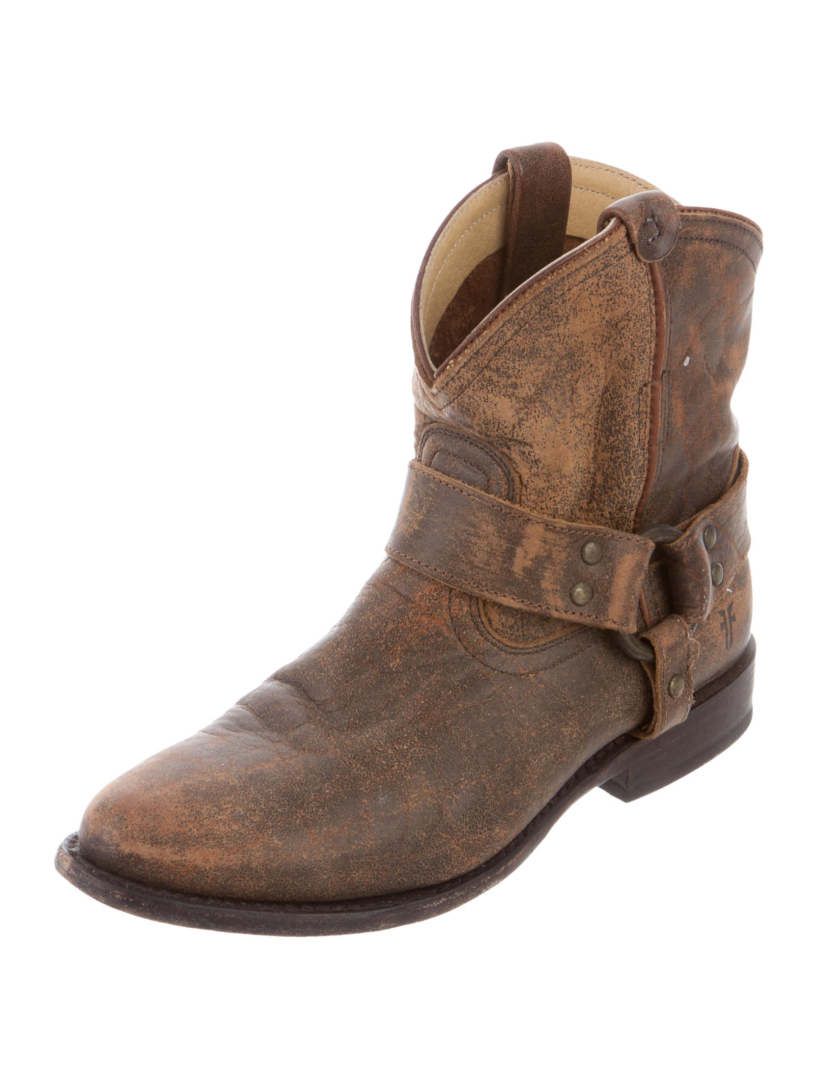 frye distressed leather ankle boots shoes wf821099