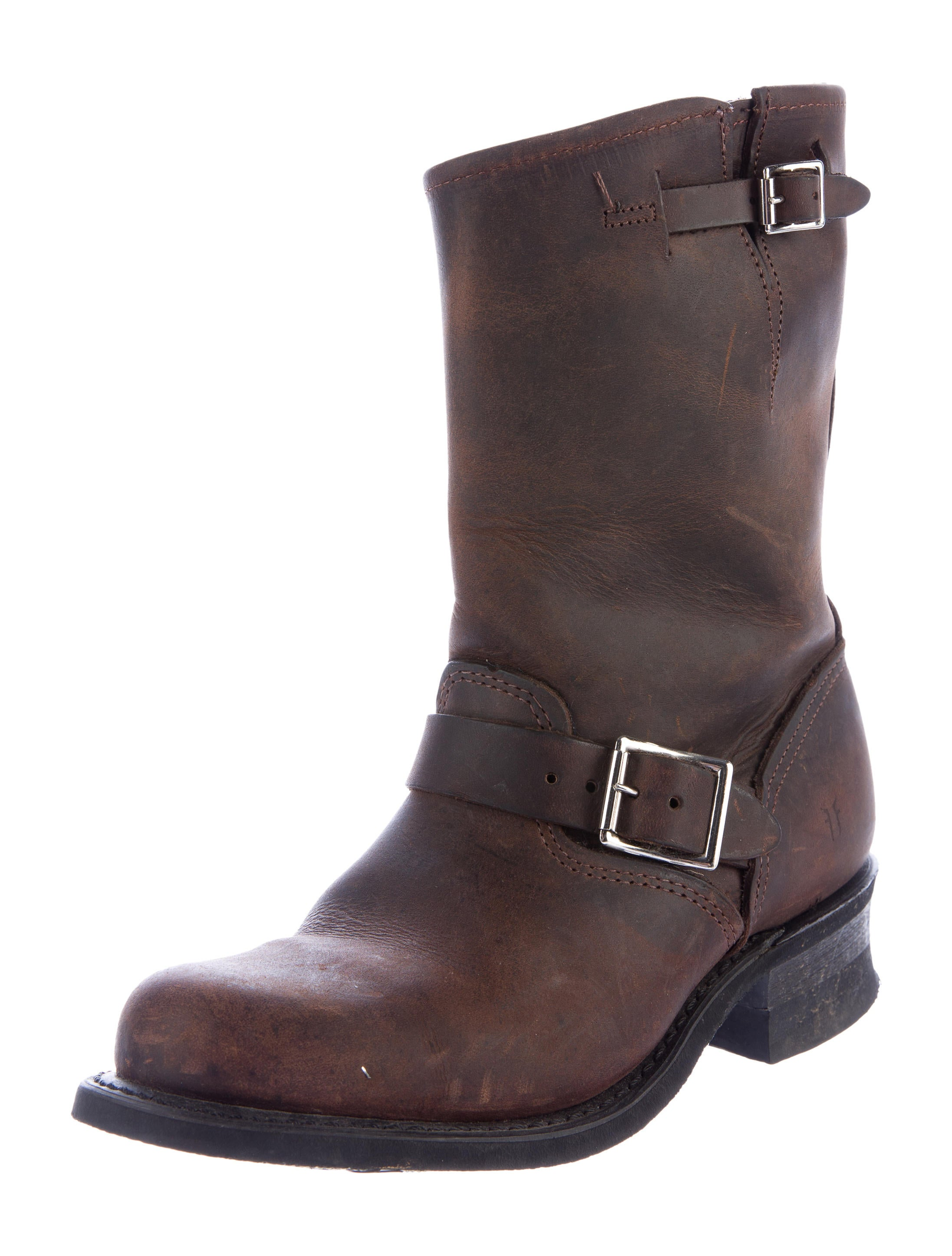 frye leather mid calf boots shoes wf821108 the realreal