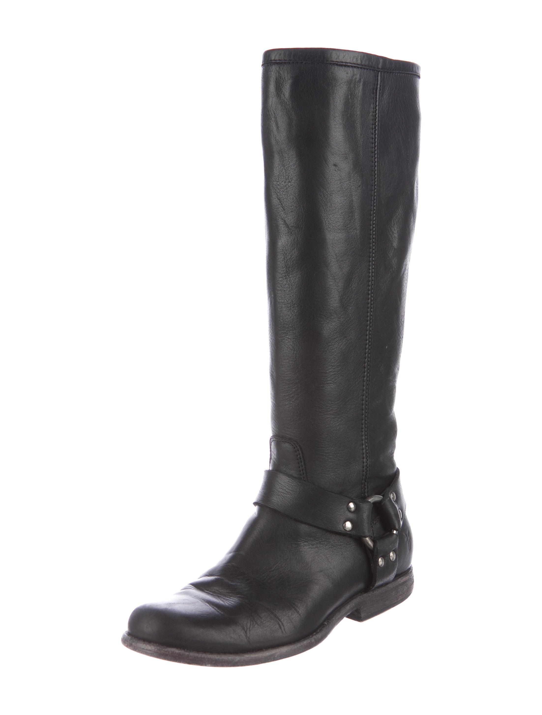frye leather knee high boots shoes wf821382 the realreal
