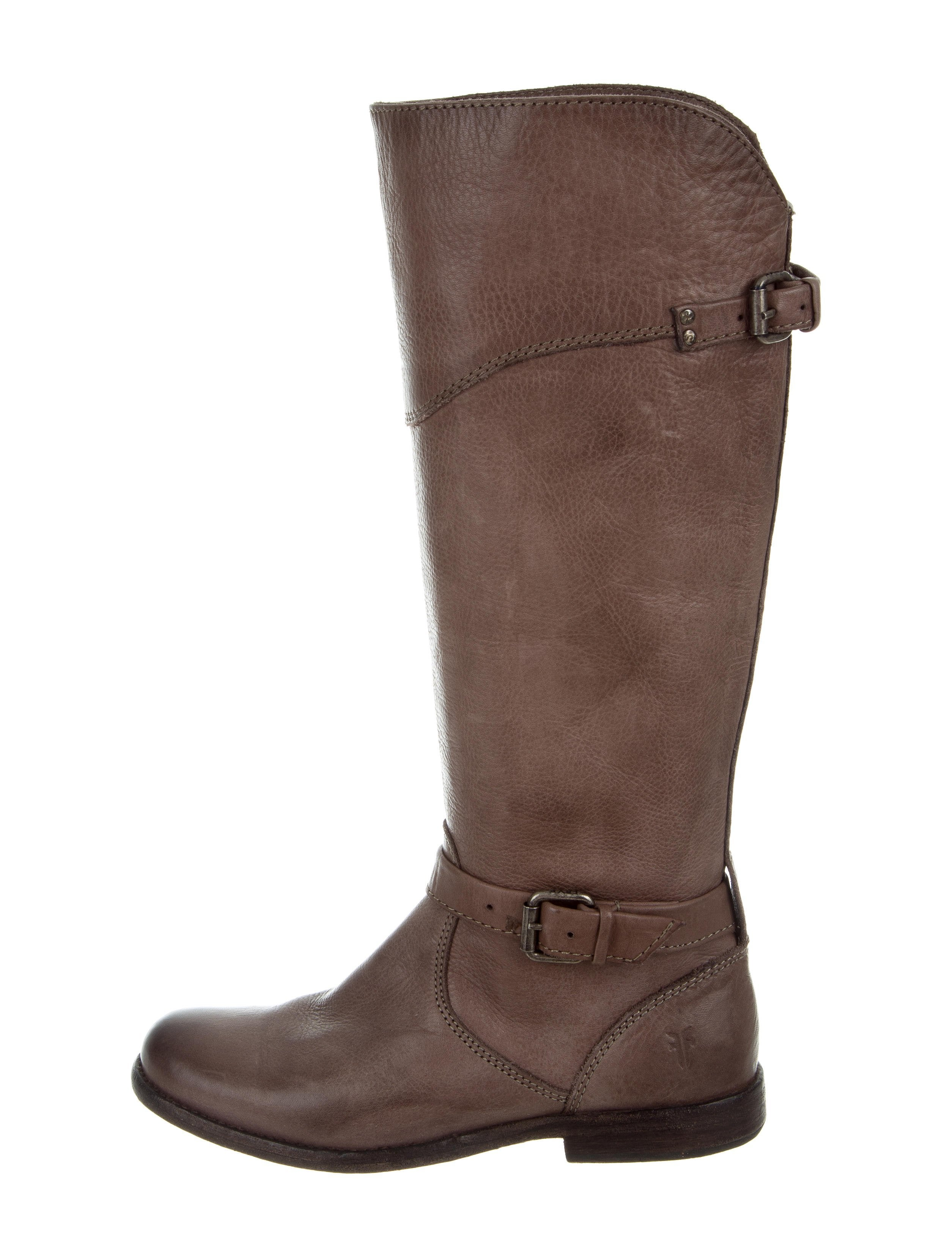 Frye Buckle-Accented Knee-High Boots great deals online u0KXnYLbvd