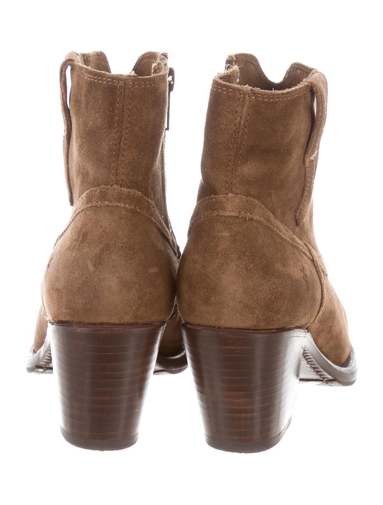 Frye Suede Ankle Boots Shoes Wf821426 The Realreal
