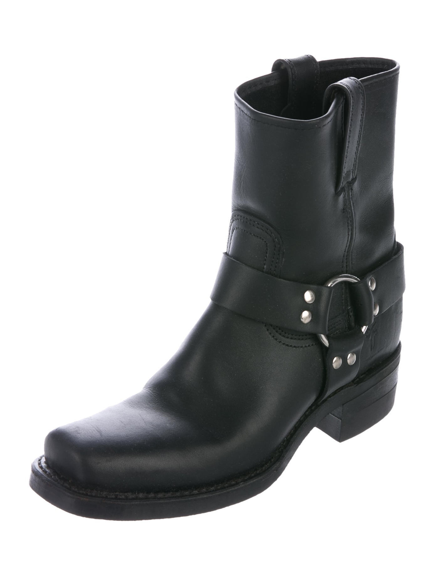 frye harness ankle boots shoes wf821477 the realreal