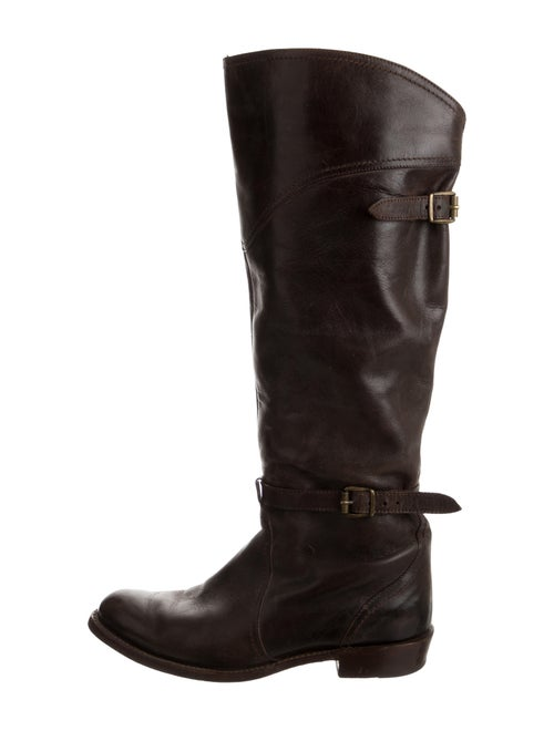 Frye Leather Knee-High Boots Brown