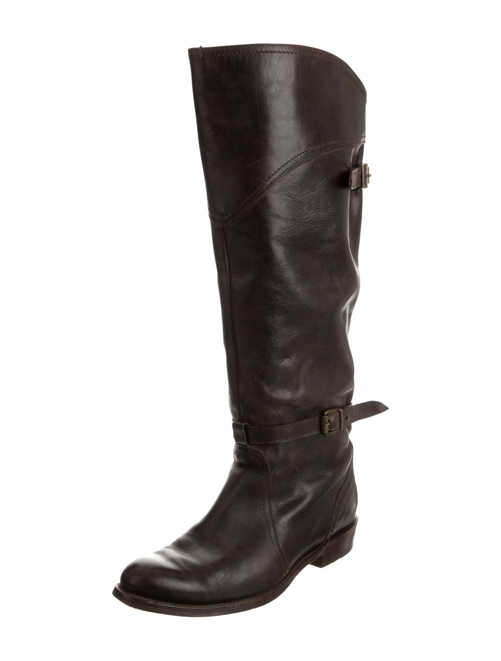 Frye Leather Knee-High Boots Brown - image 2