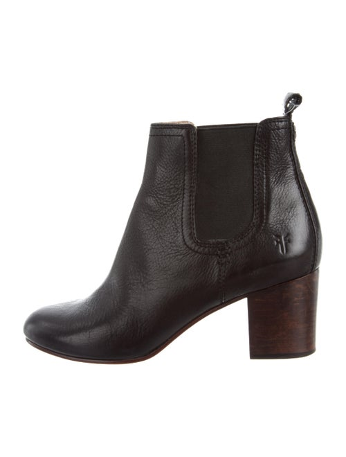 Frye Ankle Boots Leather Chelsea Boots Black