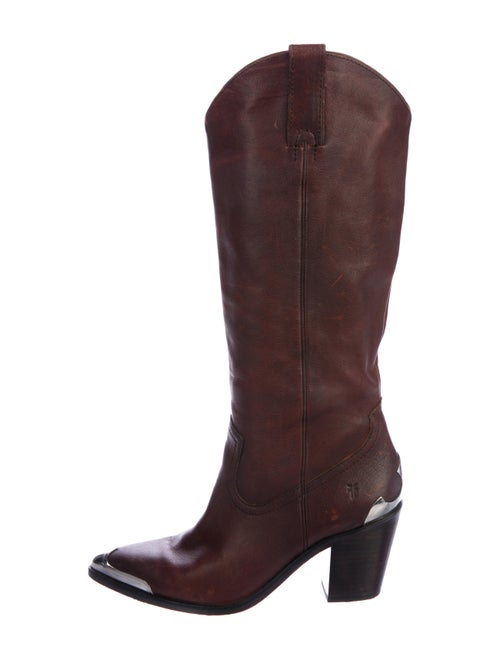 Frye Leather Cowboy Boots brown