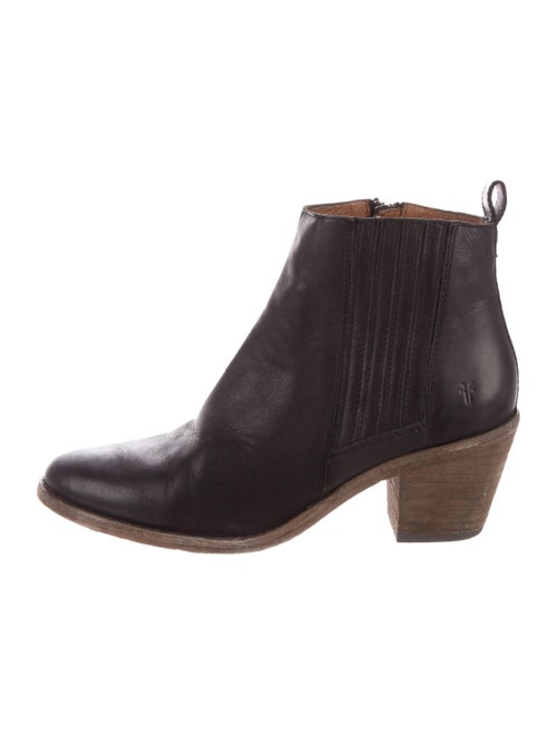Frye Leather Ankle Boots Black