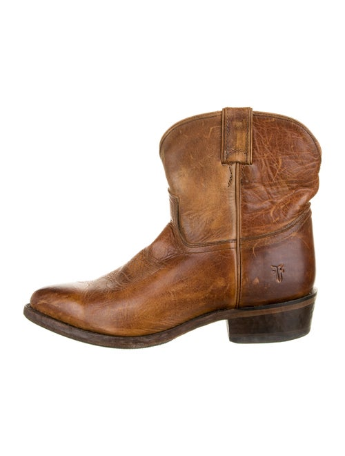 Frye Leather Western Boots Brown