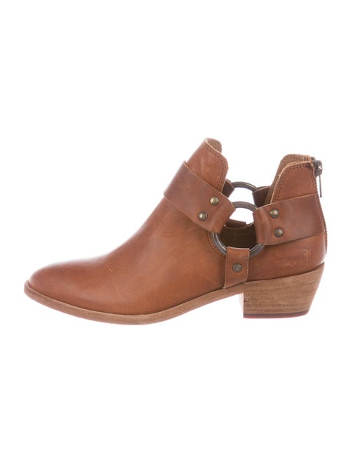Frye Leather Moto Boots Brown