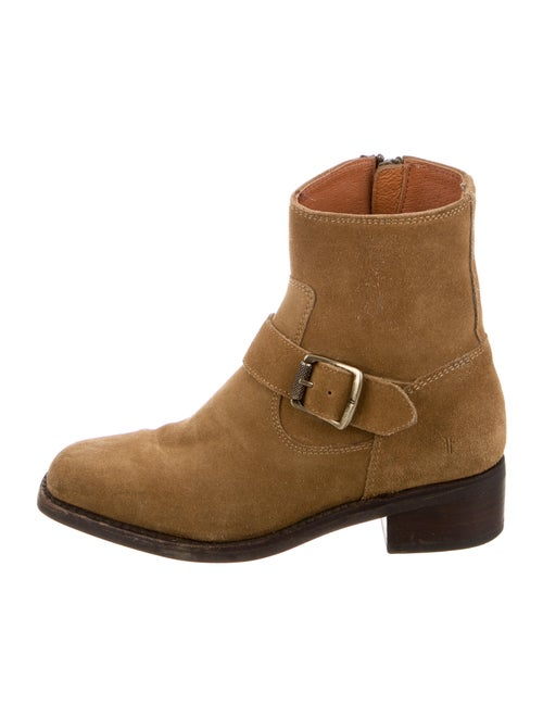 Frye Suede Moto Boots