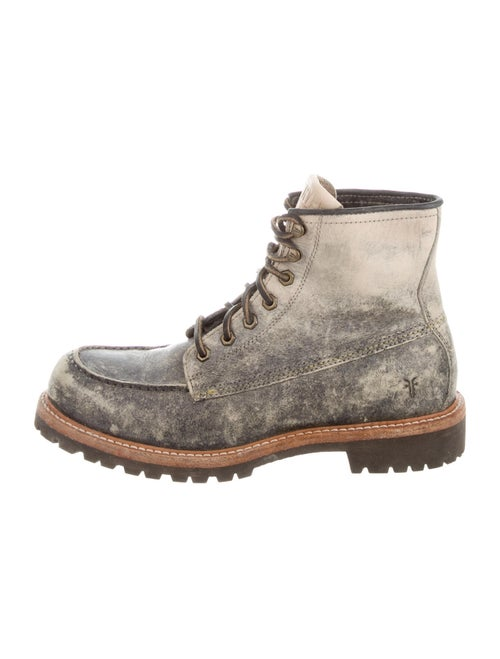 Frye Dakota Mid Leather Hiking Boots Grey