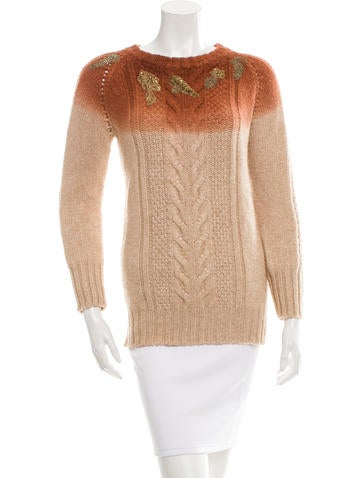 Giada Forte Embellished Wool-Blend Sweater w/ Tags None