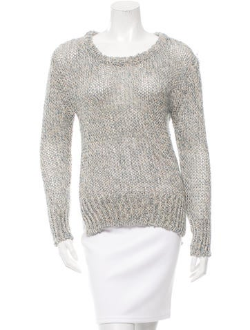 Giada Forte Open Knit Scoop Neck Sweater None