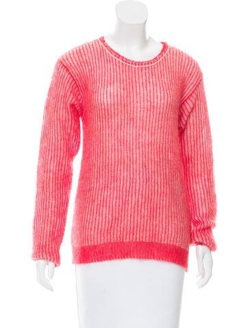 Giada Forte Wool-Blend Open Knit Sweater w/ Tags None
