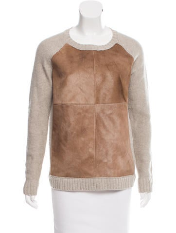 Giada Forte Ponyhair-Paneled Wool Sweater None