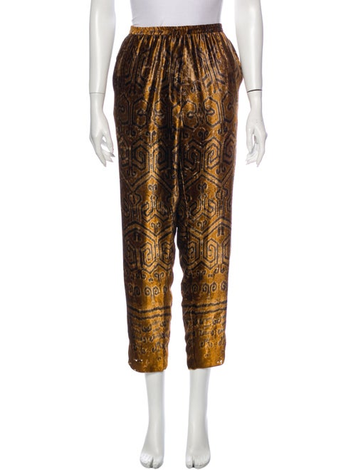 Giada Forte Printed Straight Leg Pants Orange