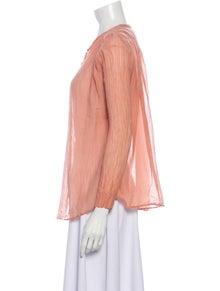 Giada Forte V-Neck Three-Quarter Sleeve Blouse