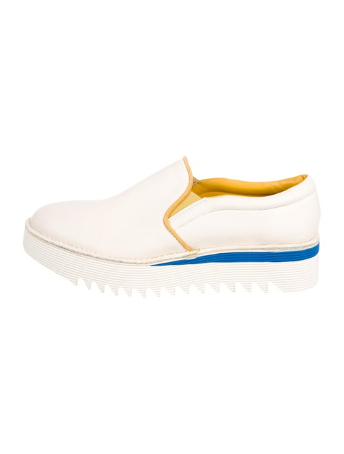Fabi Leather Platform Sneakers White