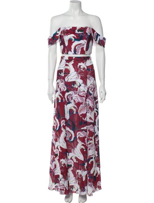 Fame & Partners Floral Print Skirt Set