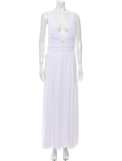 Fame & Partners Sleeveless Pleated Dress White