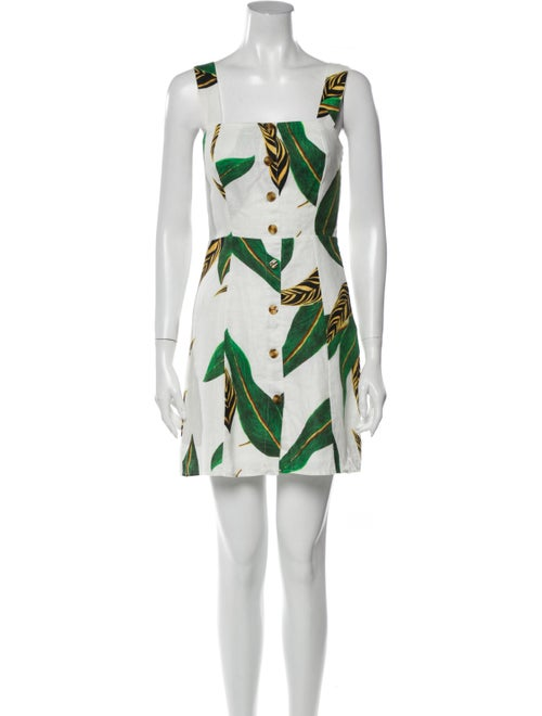 Farm Rio Linen Mini Dress White