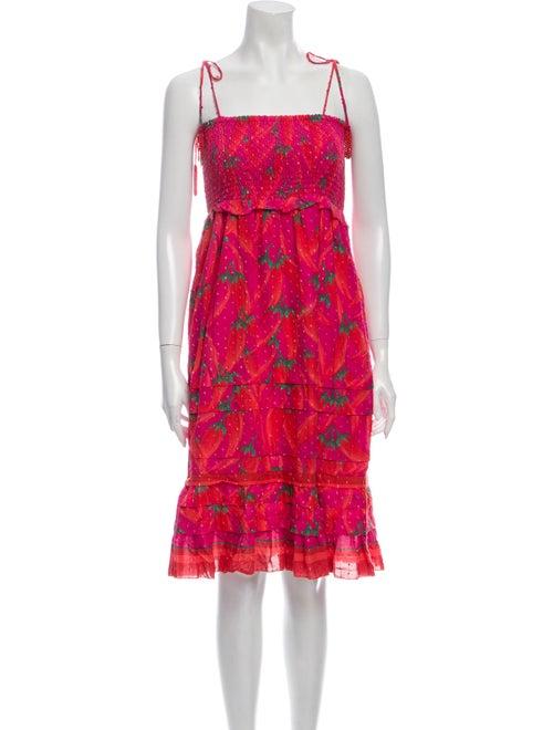 Farm Rio Floral Print Mini Dress Pink