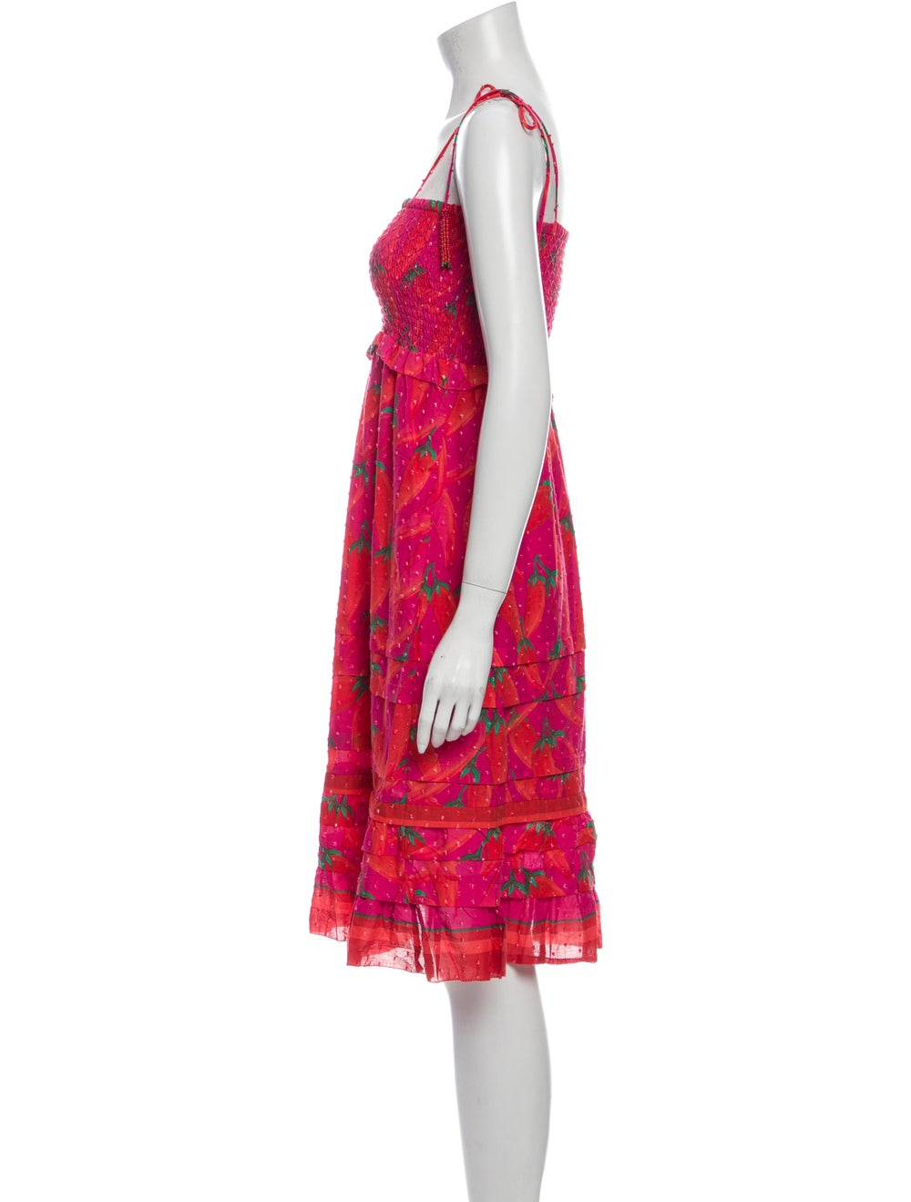 Farm Rio Floral Print Mini Dress Pink - image 2