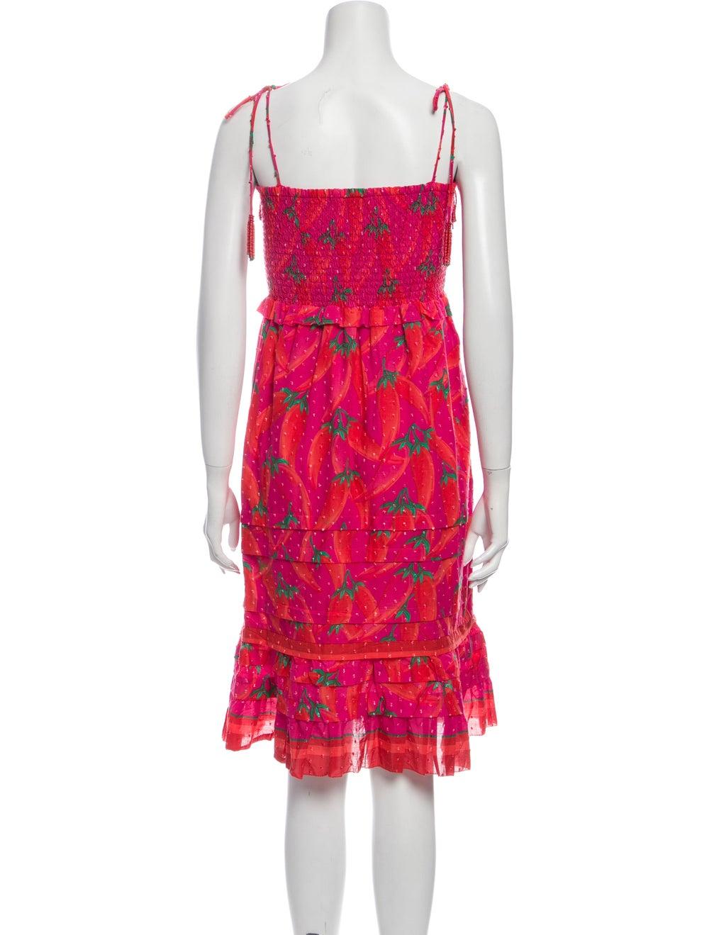Farm Rio Floral Print Mini Dress Pink - image 3
